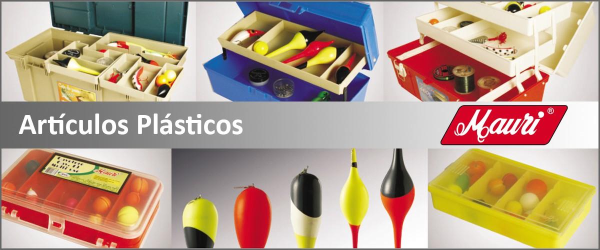 Artículos plásticos para la pesca deportiva
